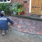 smooth pave block porch