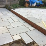 Lining up patio blocks