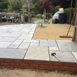 sand and patio blocks