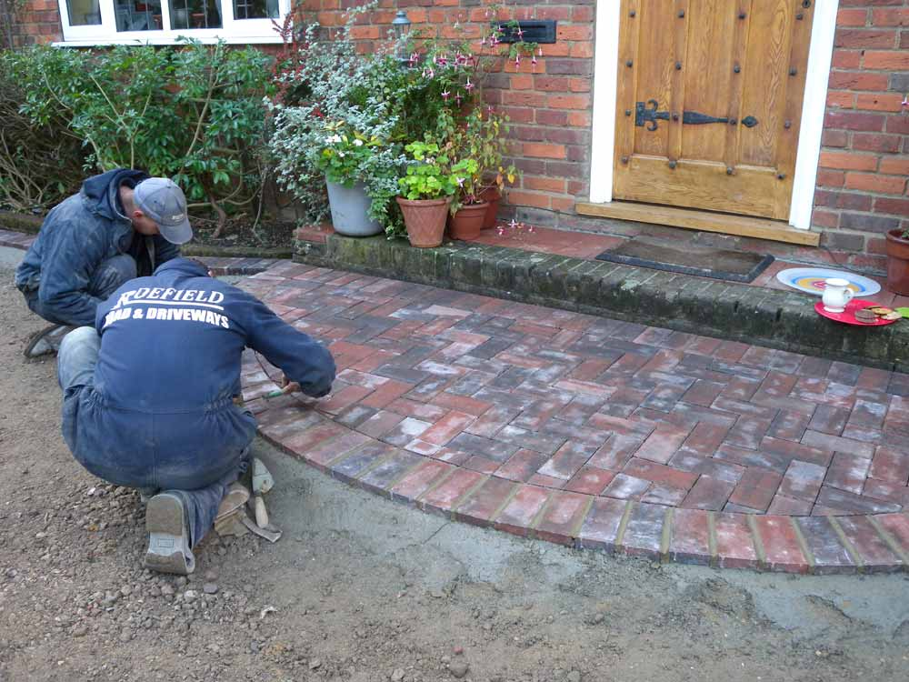 Block paving surface